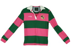 Lansdowne Rugby Ireland Pullover Top Green Pink White