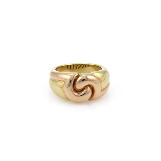Preload https://img-static.tradesy.com/item/22677783/bvlgari-rose-and-yellow-gold-18k-double-curved-style-band-size-6-ring-0-0-540-540.jpg