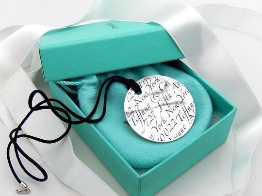 Tiffany & Co. New Tiffany LARGE Mother of Pearl Notes Necklace in Sterling Silver