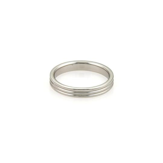 Tiffany & Co. Platinum Triple Wire 3mm Wide Band Size 5