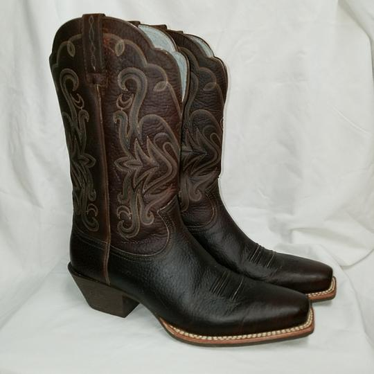 Preload https://img-static.tradesy.com/item/22677924/ariat-dark-brown-leather-with-teal-inner-and-accents-women-s-legend-rowdy-10001046-15825-bootsbootie-0-3-540-540.jpg