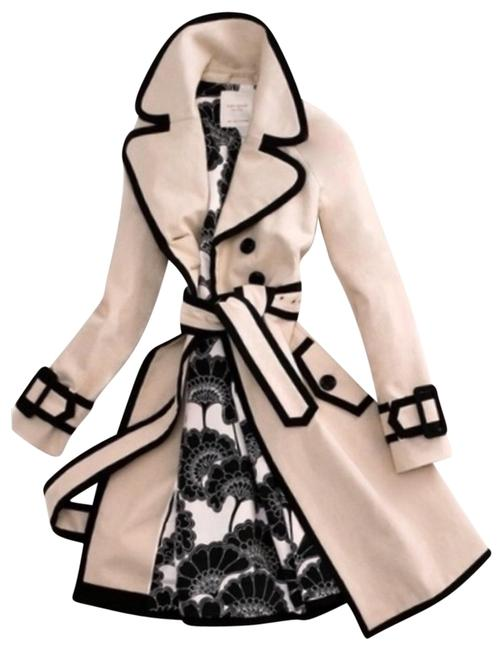 Item - Tan and Black Center Stage Coat Size 4 (S)