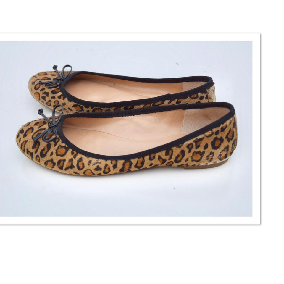 4a99bc3b34d5 Banana Republic Leopard Print Hair Calf Flats Size US 9.5 Regular (M ...