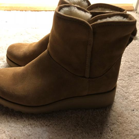 UGG Australia Shearling Chic Chestnut Suede Boots
