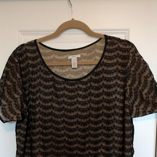 J.Crew Lace Day-to-night Top Black and Cream