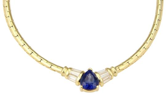 Preload https://img-static.tradesy.com/item/22678065/estate-18k-yellow-gold-pear-shape-sapphire-and-diamond-pendant-necklace-0-1-540-540.jpg