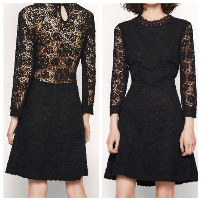 Preload https://img-static.tradesy.com/item/22678086/maje-black-renita-lace-floral-for-flare-mid-length-cocktail-dress-size-2-xs-0-2-650-650.jpg