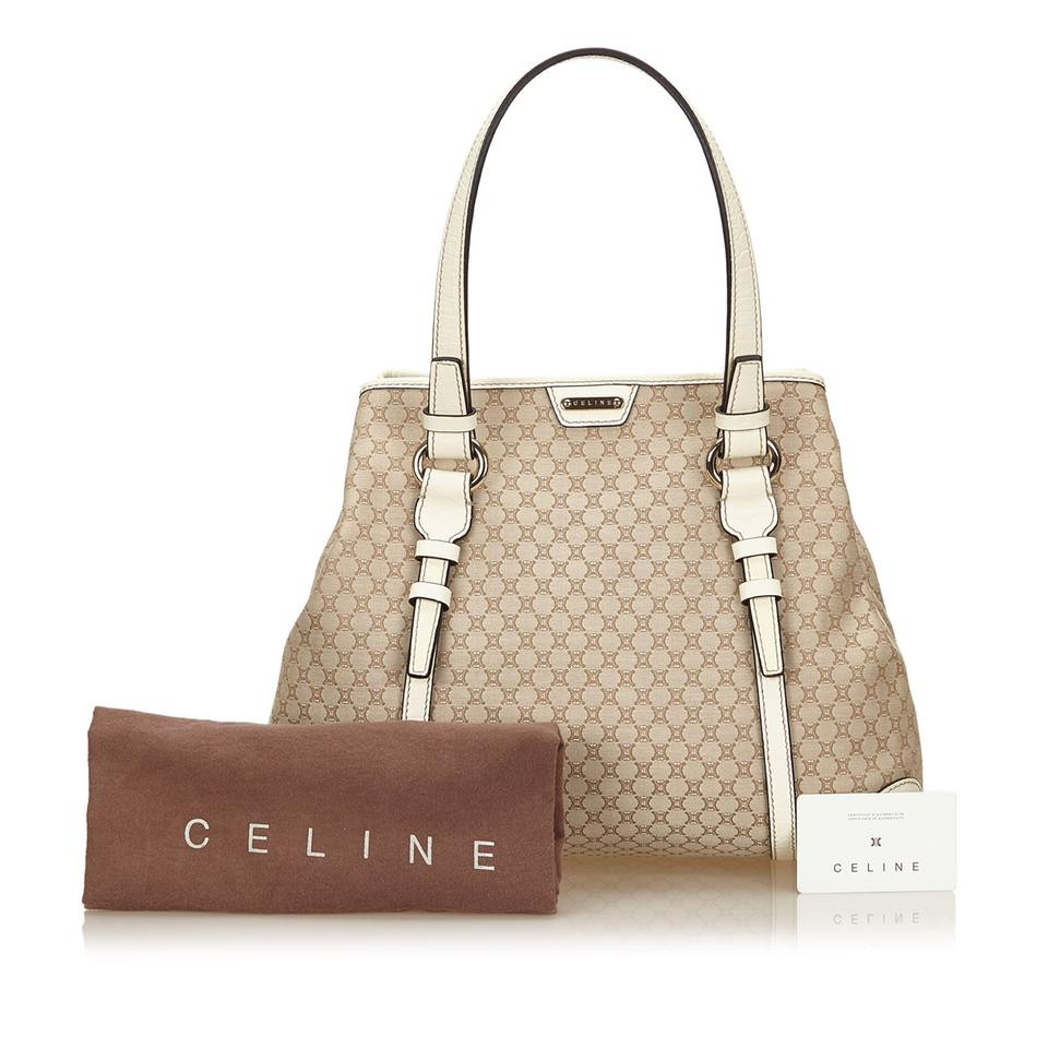 8801f70be4be1 Céline Macadam Brown Fabric X Jacquard X Leather X Others Tote - Tradesy
