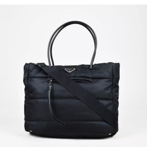 Prada Sophisticated Practical Organized Chic Luxury Tote in Black