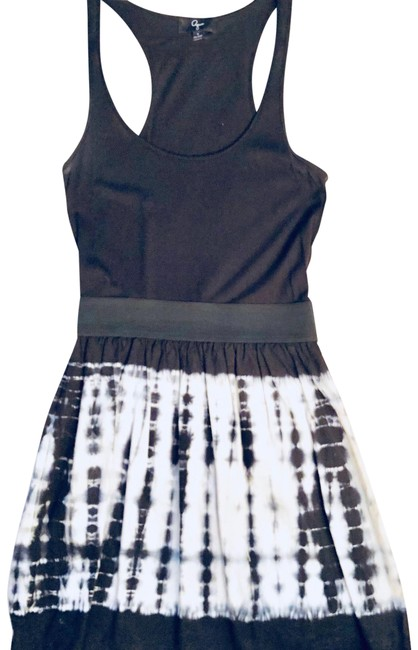 Preload https://img-static.tradesy.com/item/22678198/aqua-black-with-tie-dye-bottom-short-casual-dress-size-4-s-0-1-650-650.jpg