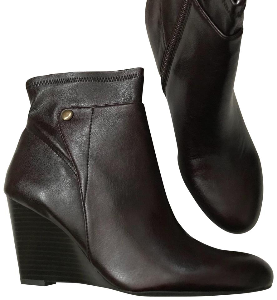 cde3ab064fb Franco Sarto Brown New Wedge Boots Booties. Size  US 8.5 Regular (M ...