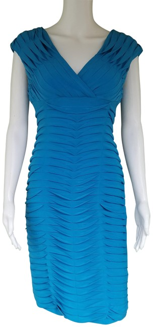 Item - Teal Origami Tiered Stretch Short Night Out Dress Size 4 (S)