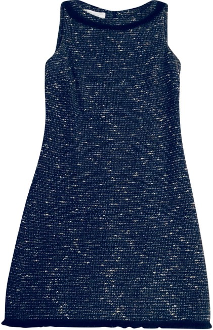 Preload https://img-static.tradesy.com/item/22678447/blacktealgold-wool-blend-shift-mid-length-workoffice-dress-size-2-xs-0-1-650-650.jpg