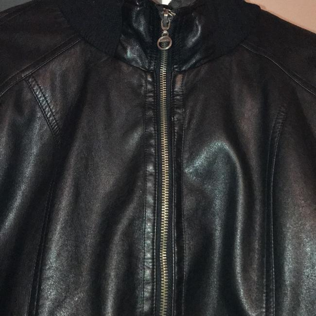 Empyre Black w/ Gray Hoodie Leather Jacket Image 3