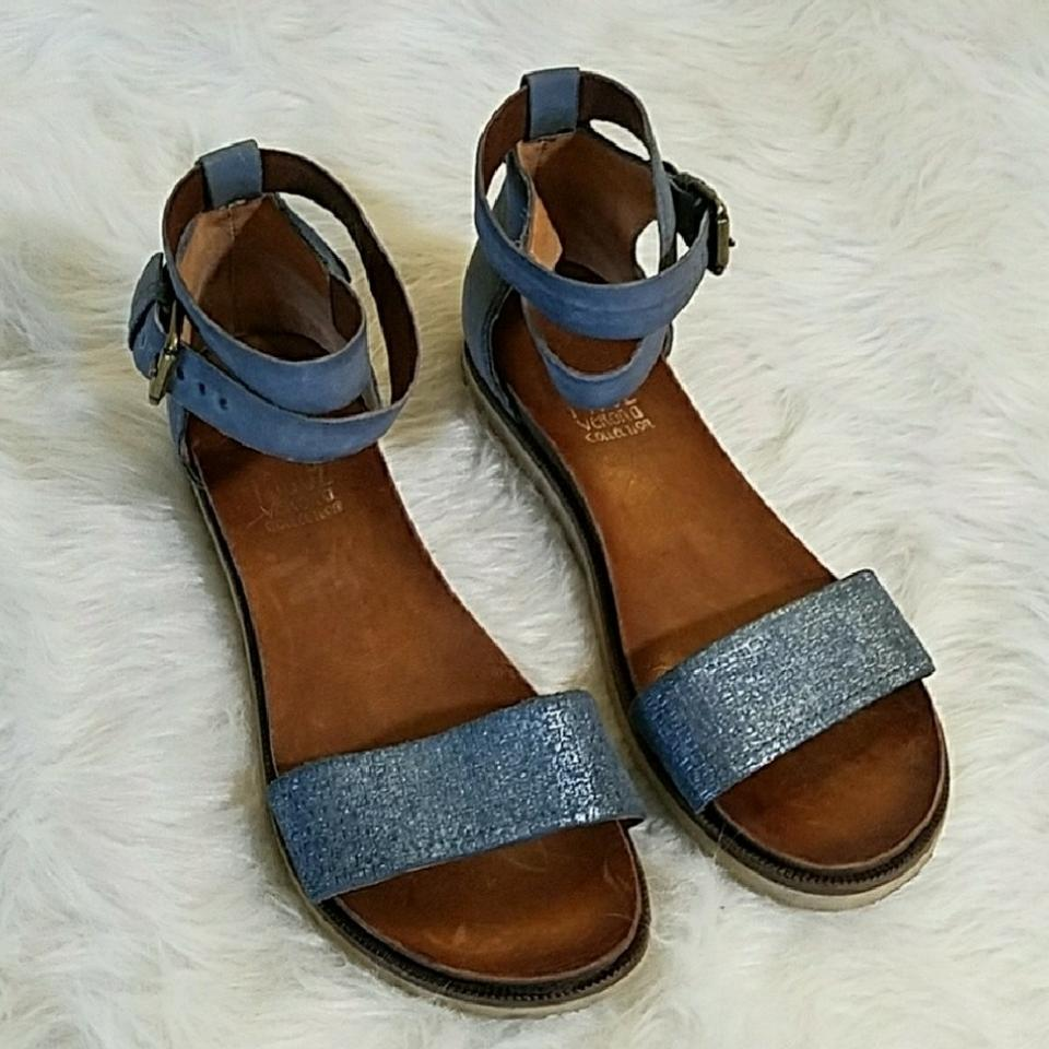 7dd01e127c2 Miz Mooz Blue Verona Collection Sandals Size US 10 Regular (M