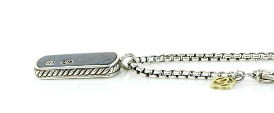 David Yurman David Yurman Dog Tag Pietersite Pendant Silver Necklace Image 3