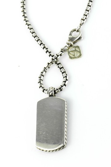 David Yurman David Yurman Dog Tag Pietersite Pendant Silver Necklace Image 4