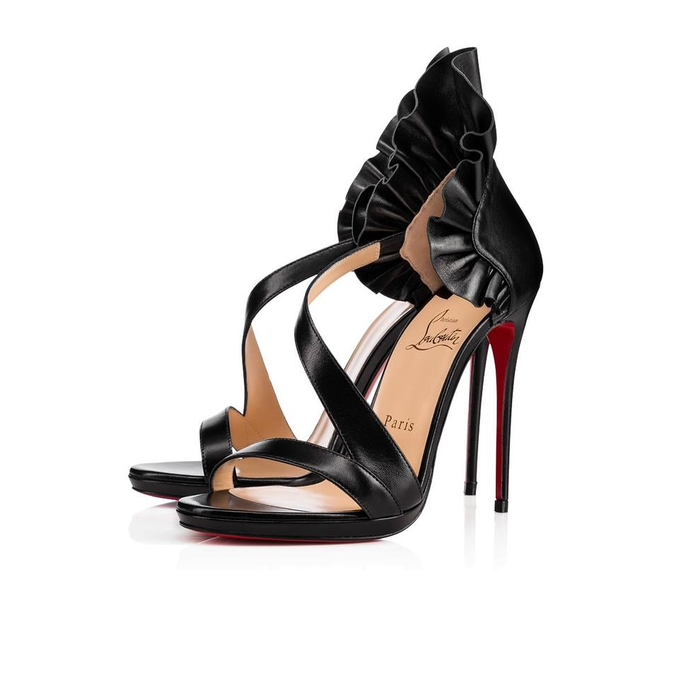 newest 31a07 9a8a5 Christian Louboutin Black Colankle 120 Leather Sandal Heels Pumps Size EU  38 (Approx. US 8) Regular (M, B) 40% off retail