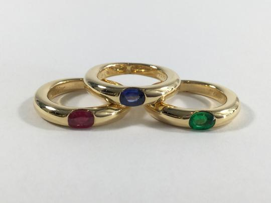 Cartier Cartier 18k Yellow Gold Ellipse 3 Ring Set & Papers