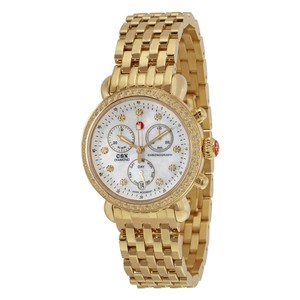 Michele Gold tone and Diamond CSX-36 Chronograph Ladies Watch