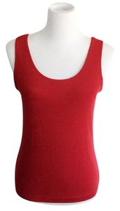 Chico's Bold Chic Machine Washable Comfortable Sleeveless Top red