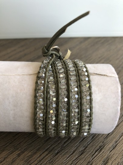 Chan Luu New Auth Chan Luu Moonlight Crystal Five Wrap Bracelet on Olive Green Image 4