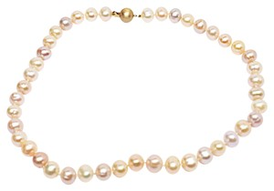Designer LUSTROUS Fresh Water PEARL Beaded Necklace - Subtle 3 Hues