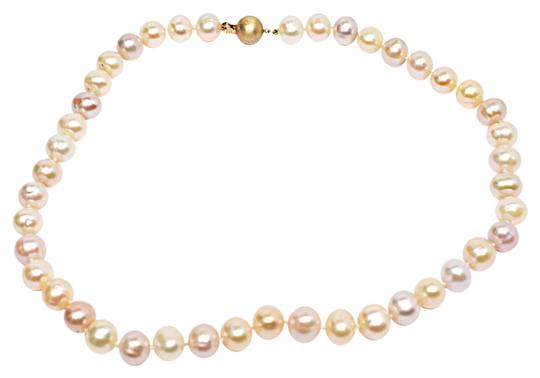 Preload https://img-static.tradesy.com/item/22679347/pink-mauve-cream-lustrous-fresh-water-pearl-beaded-subtle-3-hues-necklace-0-1-540-540.jpg