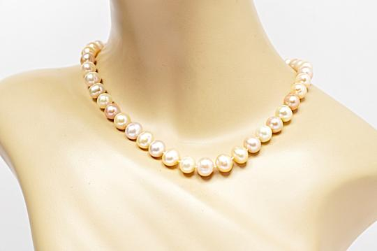 Designer LUSTROUS Fresh Water PEARL Beaded Necklace - Subtle 3 Hues Image 1