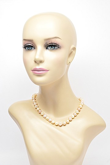 Designer LUSTROUS Fresh Water PEARL Beaded Necklace - Subtle 3 Hues Image 4