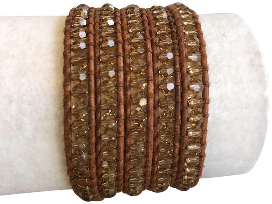 Preload https://img-static.tradesy.com/item/22679368/chan-luu-beige-new-crystal-five-wrap-natural-brown-le-bracelet-0-1-540-540.jpg