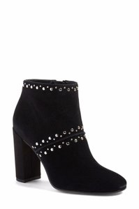 Sam Edelman Suede Leather Studded Ankle Black Boots