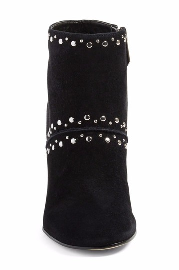 Sam Edelman Suede Leather Studded Ankle Black Boots Image 2