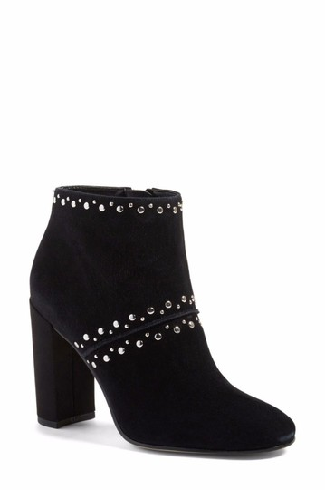 Sam Edelman Suede Leather Studded Ankle Black Boots Image 4