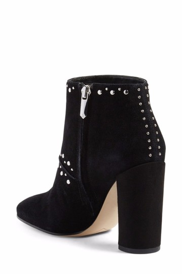 Sam Edelman Suede Leather Studded Ankle Black Boots Image 5