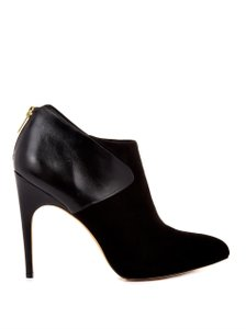 Sam Edelman Leather Suede Ankle Black Boots