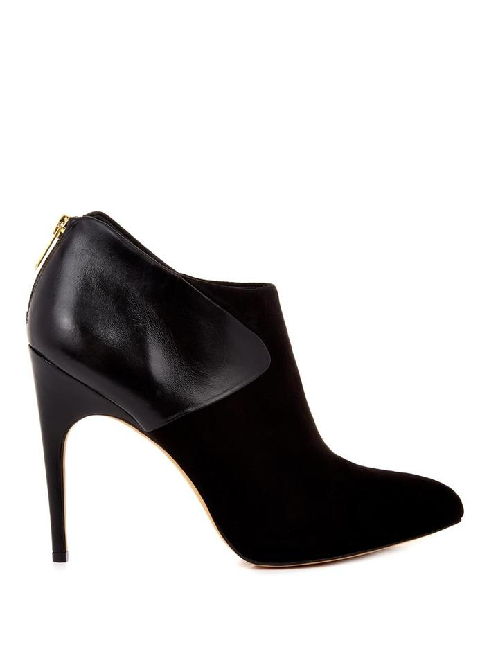 Sam Edelman Black Jacelyn Mixed and Media Leather and Mixed Suede Ankle Boots/Booties d2e670