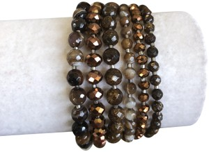 Chan Luu New Authentic Chan Luu Brown Mix Five Strand Single Wrap Bracelet