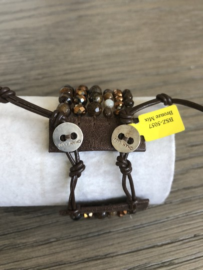 Chan Luu New Authentic Chan Luu Brown Mix Five Strand Single Wrap Bracelet Image 1