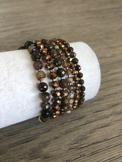 Chan Luu New Authentic Chan Luu Brown Mix Five Strand Single Wrap Bracelet Image 2