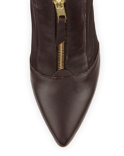 Charles by Charles David Leather Stretch Ankle Brown Boots Image 2
