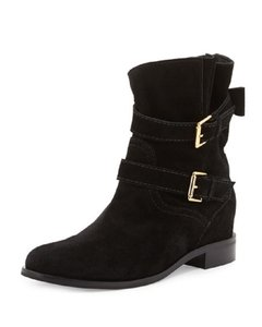Kate Spade Suede Leather Ankle Strap Black Boots