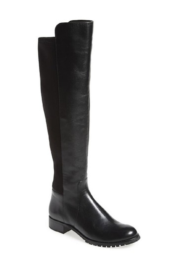 Michael Kors Leather Stretch Riding Black Boots Image 3
