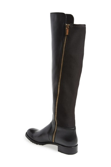 Michael Kors Leather Stretch Riding Black Boots Image 4