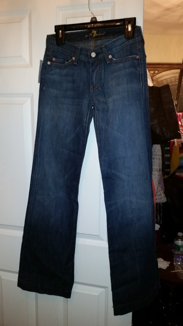 7 For All Mankind Flare Leg Jeans-Medium Wash
