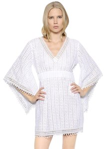 Talitha Kimono Sleeve Cotton Crocheted Lace Dress