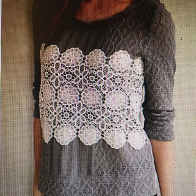 Preload https://img-static.tradesy.com/item/22679763/anthropologie-meadow-rue-lace-overlay-gray-sweater-0-0-650-650.jpg