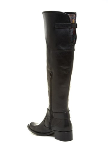 Crown by Brn Leather Over The Knee Tall Black Boots Image 1