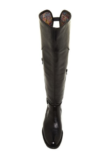 Crown by Brn Leather Over The Knee Tall Black Boots Image 2