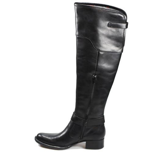 Crown by Brn Leather Over The Knee Tall Black Boots Image 3